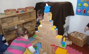 Tower building